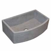 Farmhouse Quartet Kitchen Sink In Ash, 33''W X 20-1/2''D X 10-1/4''H