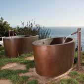 Aspen Bathtub in Antique Copper, 64''W x 36''D x 24''H