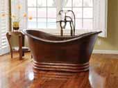 60'' Aurora Bathtub in Antique Copper, 60''W x 29''D x 30''H