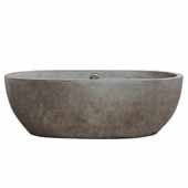 Avalon 72 Bathtub in Ash, 72''W x 36''D x 23''H