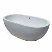 Avalon 72 Bathtub in Pearl, 72''W x 36''D x 23''H