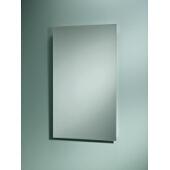 Jensen (Formerly Broan) Focus Recess Mount Medicine Cabinet w/ Basic White Finish, Frameless Mirror, Plastic Construction w/ 3 Adjustable Plastic Shelves, 16''W x 3-5/8''D x 26''H