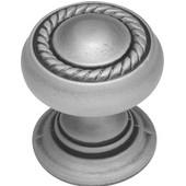 Knob, 1-1/4'' diameter Antique Pewter Finish