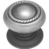 Knob, 1-1/2'' diameter Antique Pewter Finish