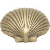 Treasures Collection Knob, Fan Shell, Antique Mist Finish, 1-1/2'' diameter