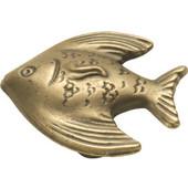 Knob, Treasures Collection, Angel Fish, Antique Mist Finish, 1-3/8'' diameter