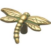 Knob, Dragonfly, Verdigris Antique Finish, 2-1/4'' x 1-3/4'' O.A