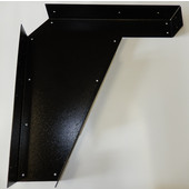 Imported ADA Vanity Bracket 21'' in Black with Holes for 22'' to 24'' Countertop, Sold As Pair