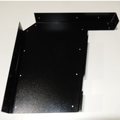 Imported ADA Vanity Bracket 23'' in Black with Holes for 24'' to 26'' Countertop, Sold As Pair