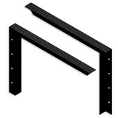 USA Made Concealed Bracket (2.0 Version) with 24'' Support Arm in Black, Sold As Pair