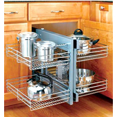 Kitchen Cabinet Accessories Blind Corner kitchen base cabinet pull-outs - kitchen cabinet shelving, storage