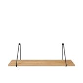 Panola Oak Wall Shelf With Hanging Brackets Black 31-1/2'' W x 9-3/8'' D