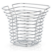 Sonora Collection Tall Wire Basket in Chrome Plated, 10-41/64'' W x 10-1/4'' D x 9-21/32'' H