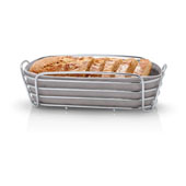 Delara Collection Bread Basket Taupe, 12-3/16''W x 12-3/8''D x 3-15/16''H