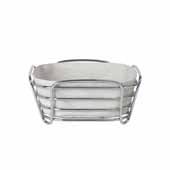 Delara Collection Wire Serving Basket, Small, Moonbeam, 8''W x 8''D x 3-5/8''H
