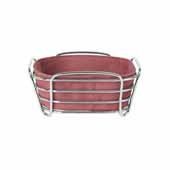 Delara Collection Wire Serving Basket, Small, Withered Rose, 8''W x 8''D x 3-5/8''H