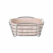 Delara Collection Wire Serving Basket, Small, Rose Dust, 8''W x 8''D x 3-5/8''H
