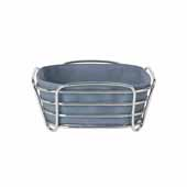 Delara Collection Wire Serving Basket, Small, Flint Stone, 8''W x 8''D x 3-5/8''H