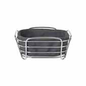Delara Collection Wire Serving Basket, Small, Magnet, 8''W x 8''D x 3-5/8''H