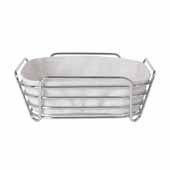 Delara Collection Wire Serving Basket, Large, Moonbeam, 10''W x 10''D x 3-5/8''H