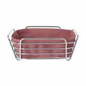 Delara Collection Wire Serving Basket, Large, Withered Rose, 10''W x 10''D x 3-5/8''H
