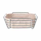 Delara Collection Wire Serving Basket, Large, Rose Dust, 10''W x 10''D x 3-5/8''H