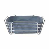 Delara Collection Wire Serving Basket, Large, Flint Stone, 10''W x 10''D x 3-5/8''H
