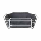 Delara Collection Wire Serving Basket, Large, Magnet, 10''W x 10''D x 3-5/8''H