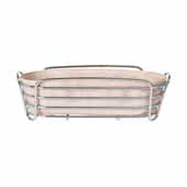 Delara Collection Wire Serving Basket, Long, Rose Dust, 4-7/8''W x 12- 1/4''D x 3-3/4''H