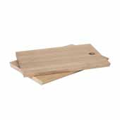 Borda Collection Oak Serving Board, Set of 2, 6''W x 8''D x 5/16''H