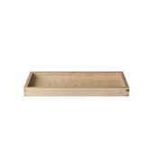 Borda Collection Oak Tray, Small, 5''W x 12''D x 1''H