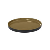 Viso Collection Tray Large Dull Gold , 11-13/16''W x 12-5/8''D x 3-3/8''H