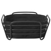 Delara Collection 8x8'' Basket Black on Black Small, 7-7/8''W x 7-7/8''D x 3-3/4''H