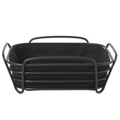 Delara Collection 10x10'' Basket Black on Black Large, 9-7/8''W x 9-7/8''D x 3-3/4''H
