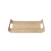 Wilo Collection Small Hardwood Tray, 13-13/16''W x 9-7/8''D x 1-3/16''H