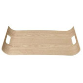 Wilo Collection Large Hardwood Tray, 16-15/16''W x 12-3/16''D x 1-9/16''H