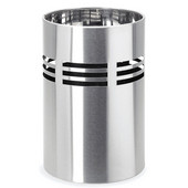 Brushed Stainless Steel waste basket with plastic liner