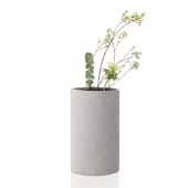Coluna Collection Vase, Light Gray, Small, 4-3/4''W x 4-3/4''D x 7-7/8''H