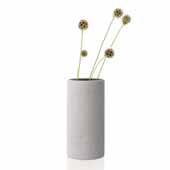 Coluna Collection Vase, Light Gray, Medium, 4-3/4''W x 4-3/4''D x 9-1/2''H