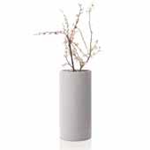 Coluna Collection Vase, Light Gray, Large, 5-1/2''W x 5-1/2''D x 11-3/8''H