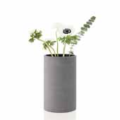 Coluna Collection Vase, Dark Gray, Small, 4-3/4''W x 4-3/4''D x 7-7/8''H
