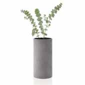 Coluna Collection Vase, Dark Gray, Medium, 4-3/4''W x 4-3/4''D x 9-1/2''H