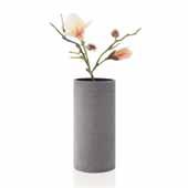 Coluna Collection Vase, Dark Gray, Large, 5-1/2''W x 5-1/2''D x 11-3/8''H