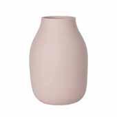 Colora Collection Vase Porcelain, Rose Dust, 6''Dia x 20''H