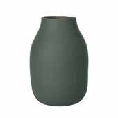 Colora Collection Vase Porcelain, Agave Green, 6''Dia x 20''H