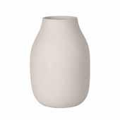 Colora Collection Vase Porcelain, Moonbeam, 6''Dia x 20''H