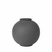 Rudea Collection Vase Ceramic, Peat, 8-7/8''Dia x 8-5/8''H