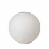 Rudea Collection Vase Ceramic, White, 11-13/16''Dia x 12''H