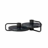 Castea Collection Candle holders Set of 2, Black/Marble