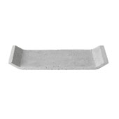 Moon Collection Decorative Polystone Tray in Light Grey, 11-13/16''W x 4-15/16''D x 1''H